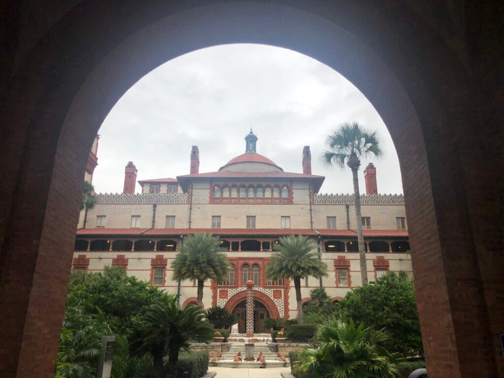 A courtyard at Flagler College